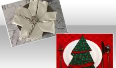 Διακόσμηση χριστουγεννιάτικου τραπεζιού