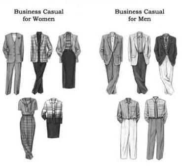 ανδρικό ντύσιμο, επαγγελματικό ντύσιμο