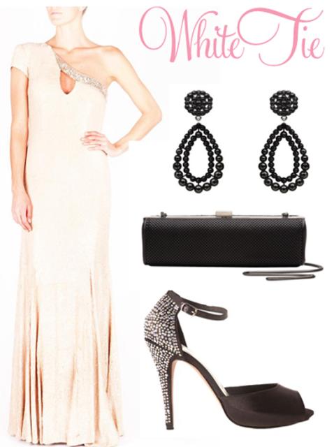 επίσημο βραδινό φόρεμα whitetie